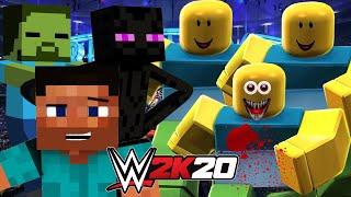 TEAM ROBLOX vs TEAM MINECRAFT | WWE 2K20