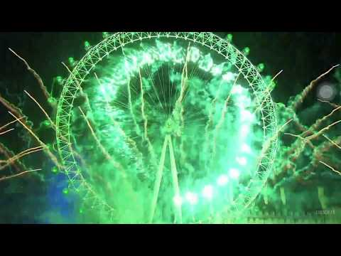 LONDON FIRE WORKS 2017 / 2018 VIDEO - NEW YEAR'S EVE FIRE WORKS 2018 HD