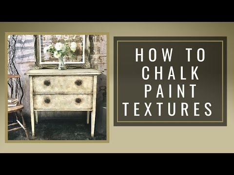 How To Chalk Paint Textures With Sponging Technique/custom Color Glaze