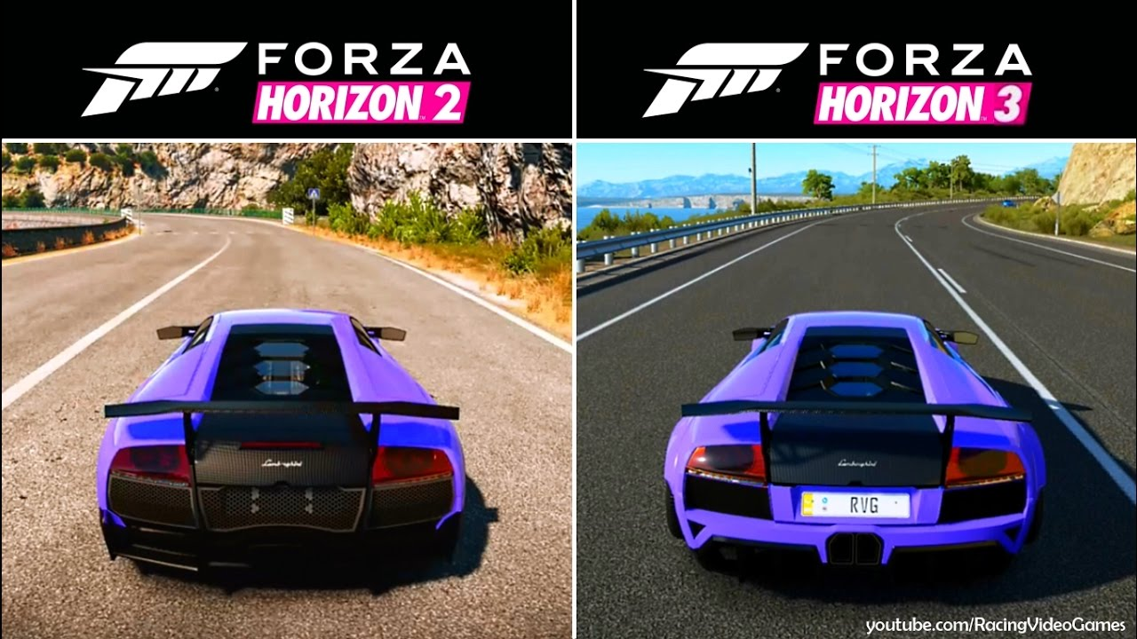 forza horizon 3 vs forza horizon 2 graphics sound. Black Bedroom Furniture Sets. Home Design Ideas