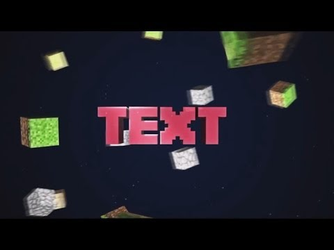 how to make a free minecraft intro