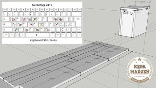 Projektowanie stolarskie - niuanse. Program Sketchup - podstawowe funkcje i skróty klawiaturowe