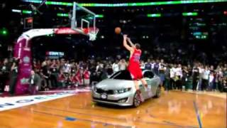 NBA All Star Slam Dunk 2011 Champion Blake Griffin Jump ove Kia car