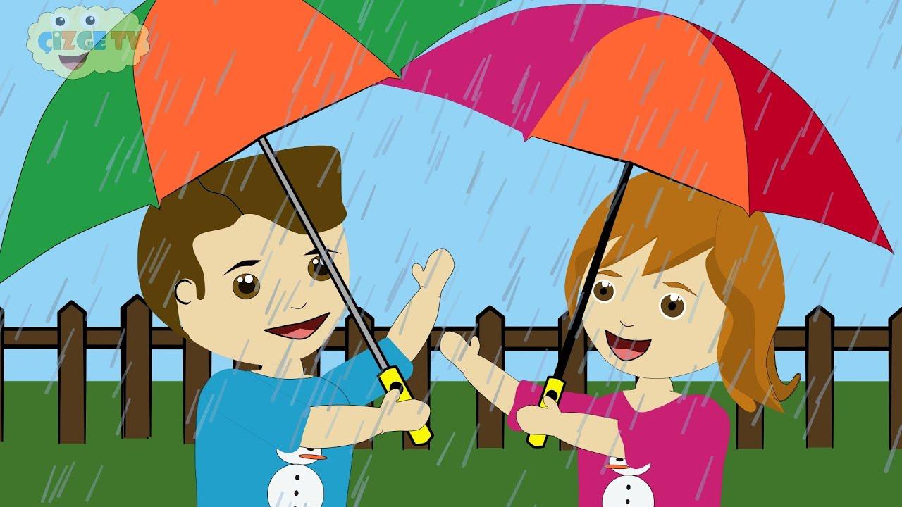 ÇOCUK ŞARKILARI - Yağmur Yağıyor - Çizge TV - Çizgi Film İzle