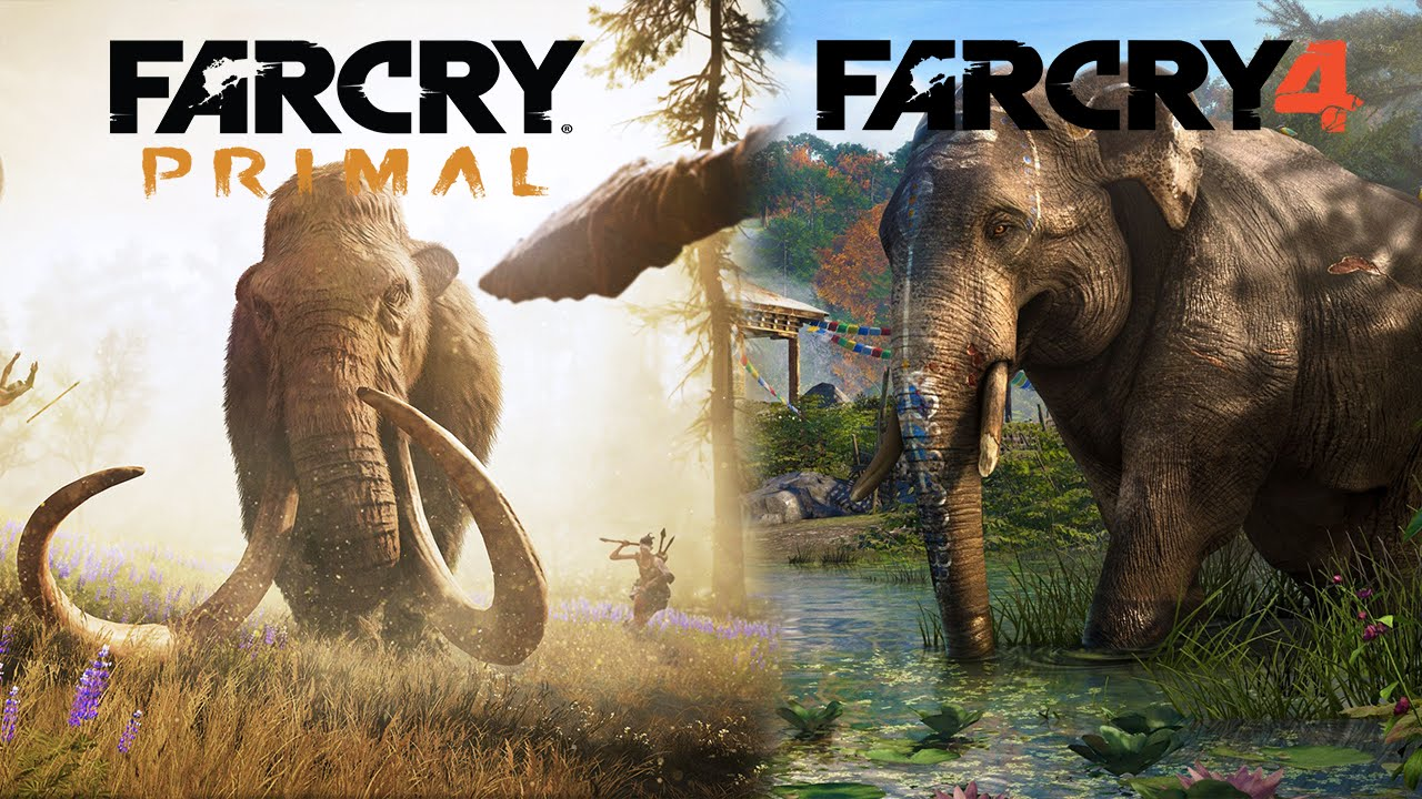 Far Cry Primal Vs Far Cry 4 Youtube