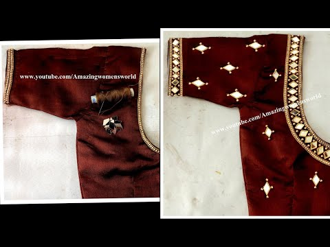 Most Grand U0026 Heavy Mirror Work Design With Normal Stitching Needle On Stitched /Ready Made Blouse