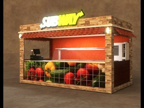 Outdoor Food, Retail and Coffee Kiosks Design | Cart-King