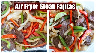 How to make AIR FRYER STEAK FAJITAS