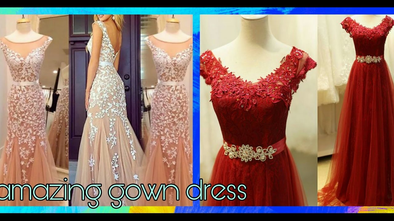 gown dress design for girls(beautiful)