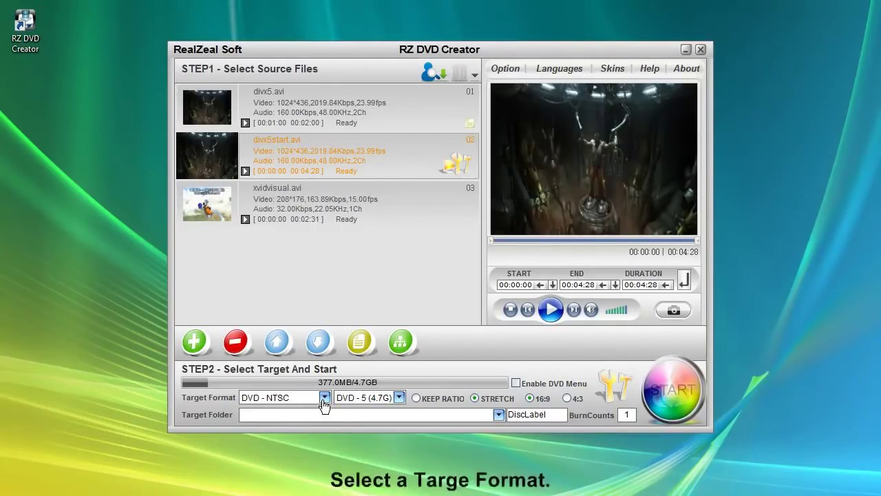 how to make a dvd movie from mp4 files
