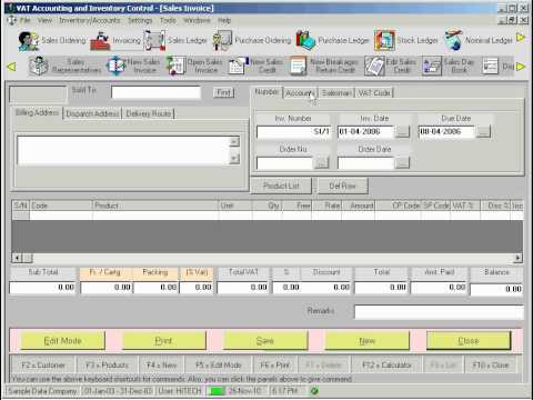 Hitech Vat Accounting And Inventory Control Software   Accounting Software