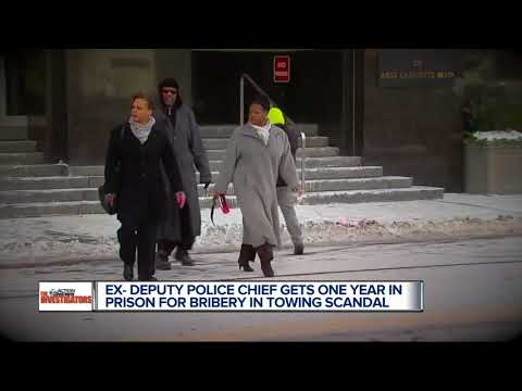 Former Detroit deputy police chief sentenced to one year in prison for bribery