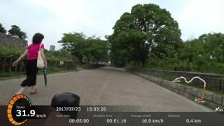 JAPAN. I tride it on a road bike.大阪城公園をロードバイクで走ってみた⓶