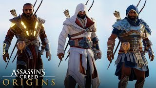 Assassin's Creed Origins - All Legendary Outfits (How to Unlock) Including Premium DLC Outfits