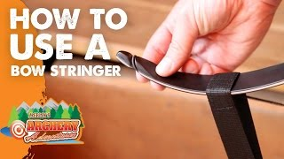 how to use a bow stringer (Archery)