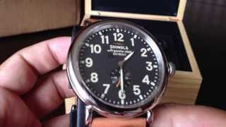 Detroit built Shinola Runwell 47mm Limited Edition Watch unboxing and first impressions