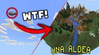 ¡INCREÍBLE! Una aldea en el cielo!!! | Mega Aldea Espléndida | Minecraft Pocket Edition 1.1.4
