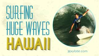 Gambar cover Surfing Huge Waves in Hawaii Royalty Free Music by Xylote.com