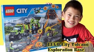 LEGO City 2016 Volcano Exploration Base 60124 Speed Build Review and Kids Play | TheChildhoodLife