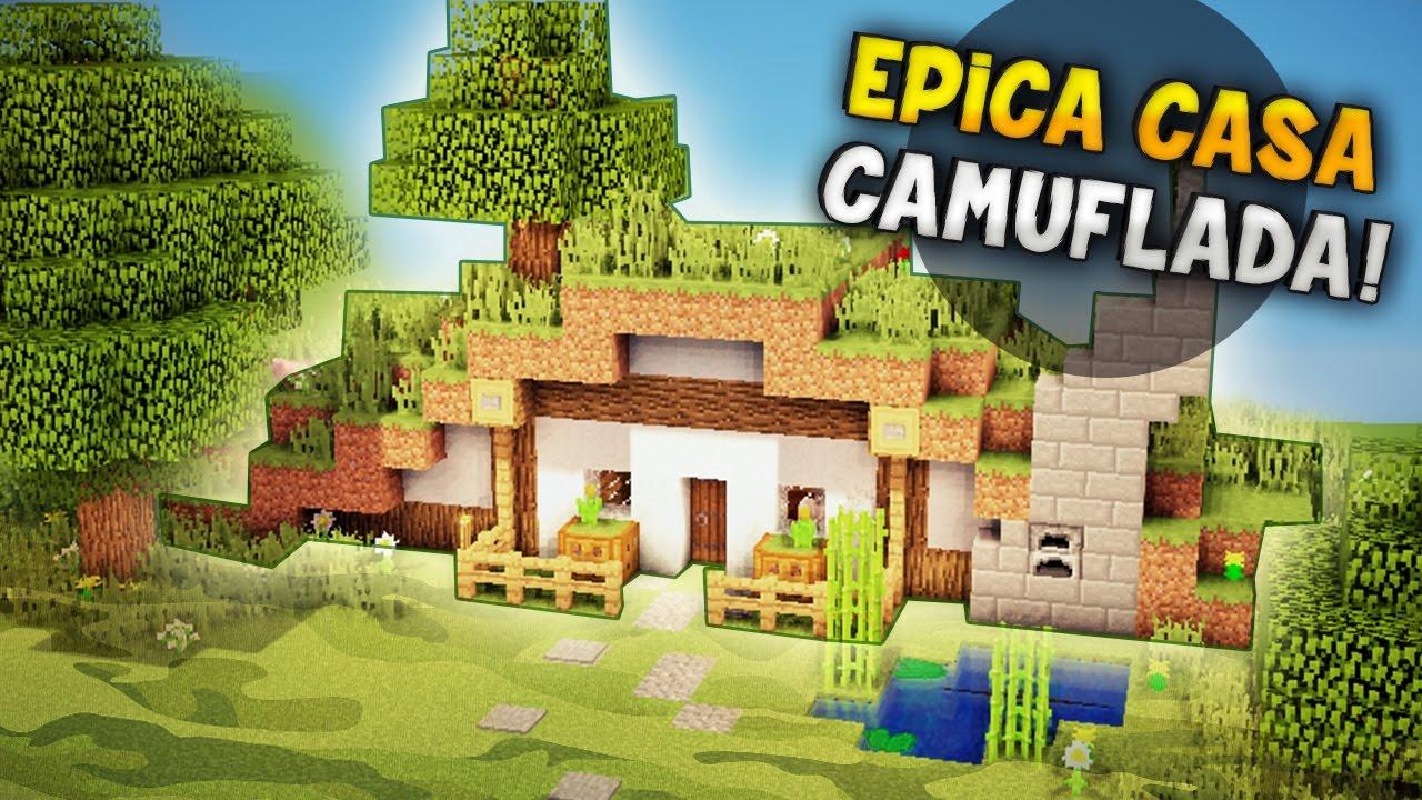 Minecraft como hacer una casa camuflada esconde tu for Como construir una piscina