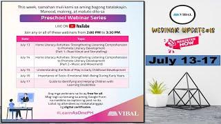 Vibal Group | JULY 13-17 | FREE WEBINARS WITH CERTIFICATE