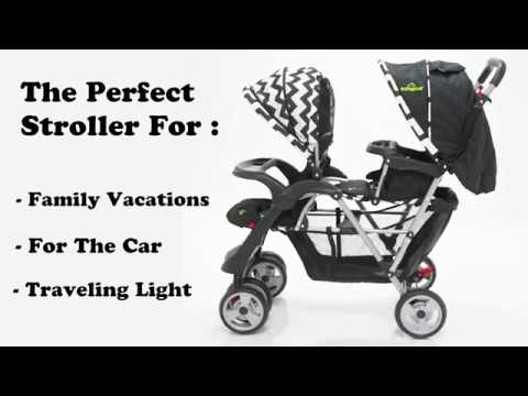 Costway Foldable Twin Baby Double Stroller introduction video (BB4476BK)