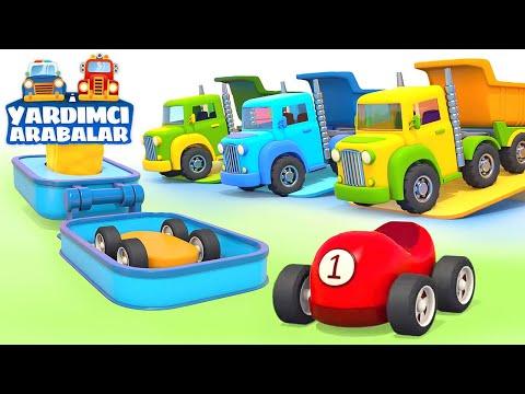 Çizgi film Yardımcı arabalar - Renkli arabaları yapıyoruz! Çocuklar için eğitici video