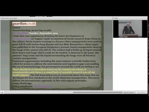 Sir Peter Kent Lecture 2012