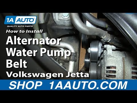 How To Replace Alternator/Water Pump Belt 05-10 2.5L Volkswagen Jetta