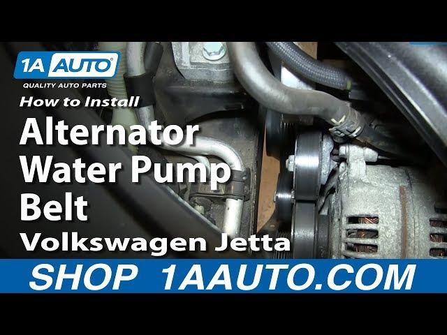 2010 volkswagen jetta engine diagram how to replace alternator water pump belt 05 10 2 5l volkswagen  water pump belt 05 10 2 5l volkswagen