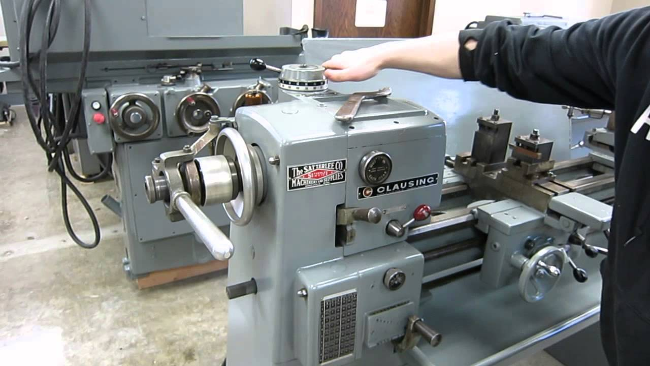 maxresdefault clausing model 5913 variable speed engine lathe with turret  at soozxer.org