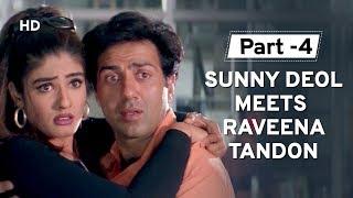 Sunny Deol & Raveena Tandon love at first sight [Part 4] Salaakhen | Hindi Action Movie