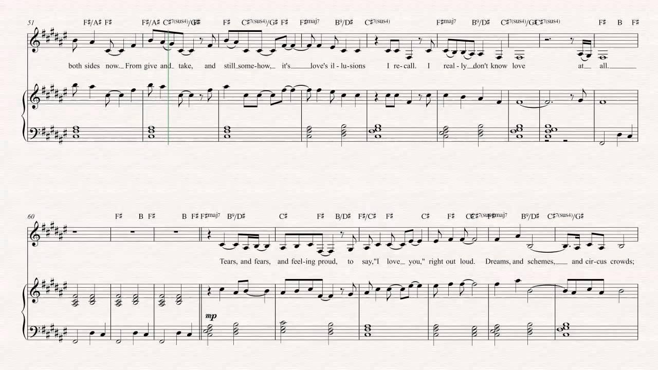Flugelhorn Both Sides Now Joni Mitchell Sheet Music Chords