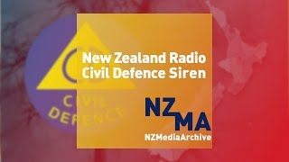 NZ Civil Defence Radio Siren