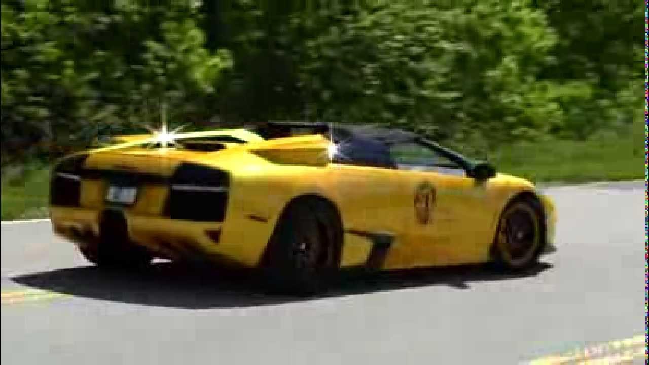 Lamborghini Murcielago Loud Sound Black And Yellow Color Combo