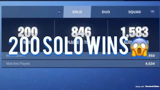 Mitt 200. Solo win! Use creator code Fotballgutten321 i itemshoppen! Norsk fortnite battle royale