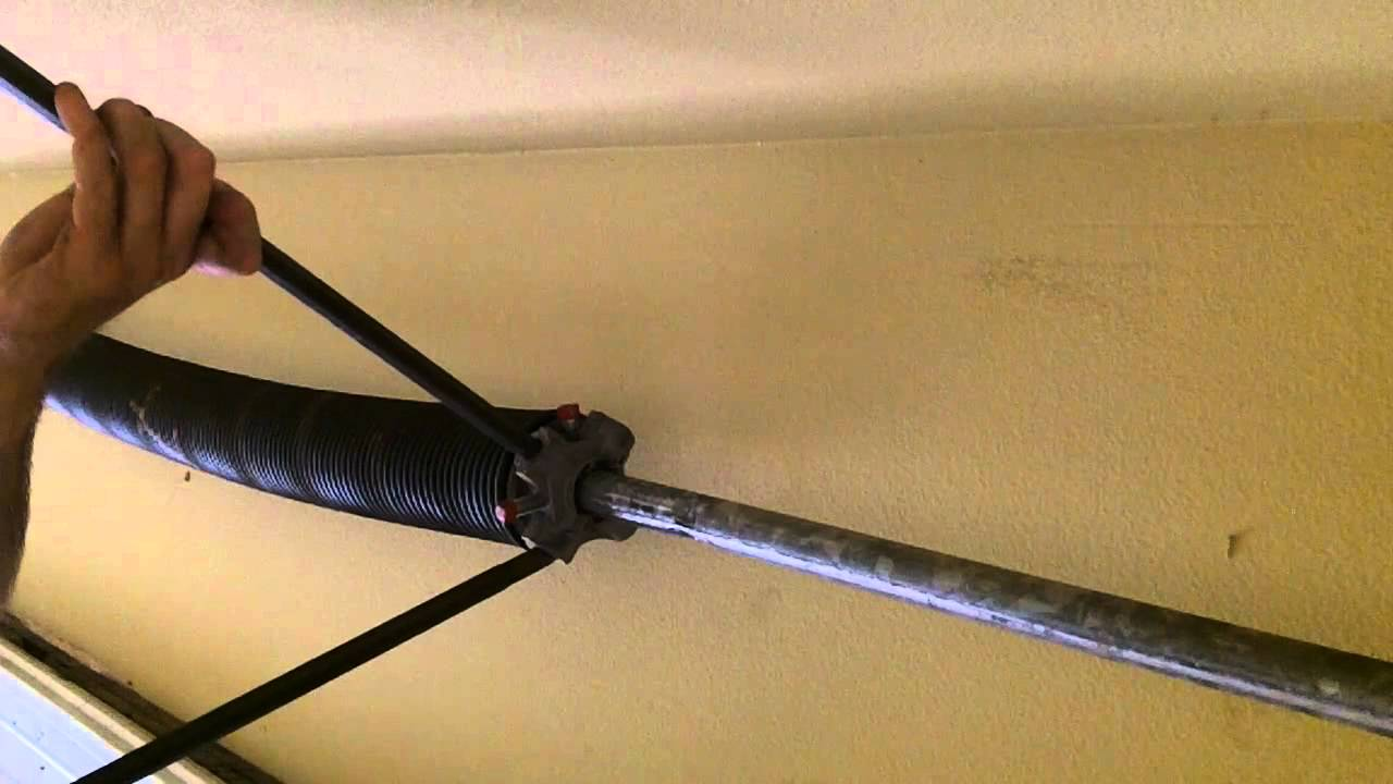 Garage door torsion spring repair youtube rubansaba