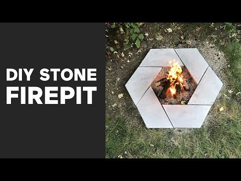 DIY Modern Stone Firepit | A Dwell Made Project