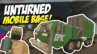 EPIC MOBILE BASE - Unturned Base Build (Funny Moments)