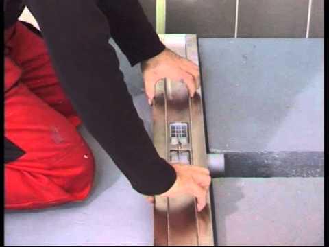 Odtokový žlab montáž