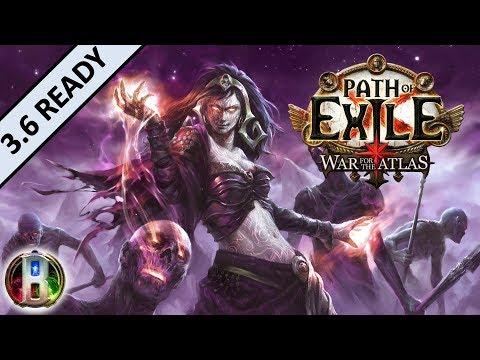 [3.5] Spectre Auramancer Build - Necromancer Witch - Path of Exile War For The Atlas - Betrayal