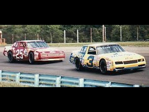 Dale Earnhardt and Tim Richmond drive the wheels off their racecars at riverside 1986