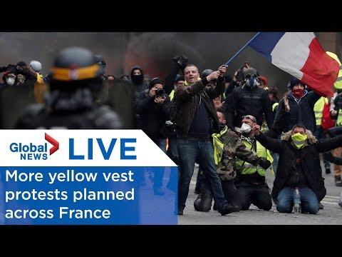 LIVE: More yellow vest protests planned across France