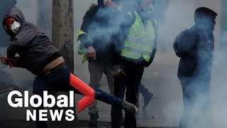 Yellow vest protesters take to French streets in fight weekend of demonstrations