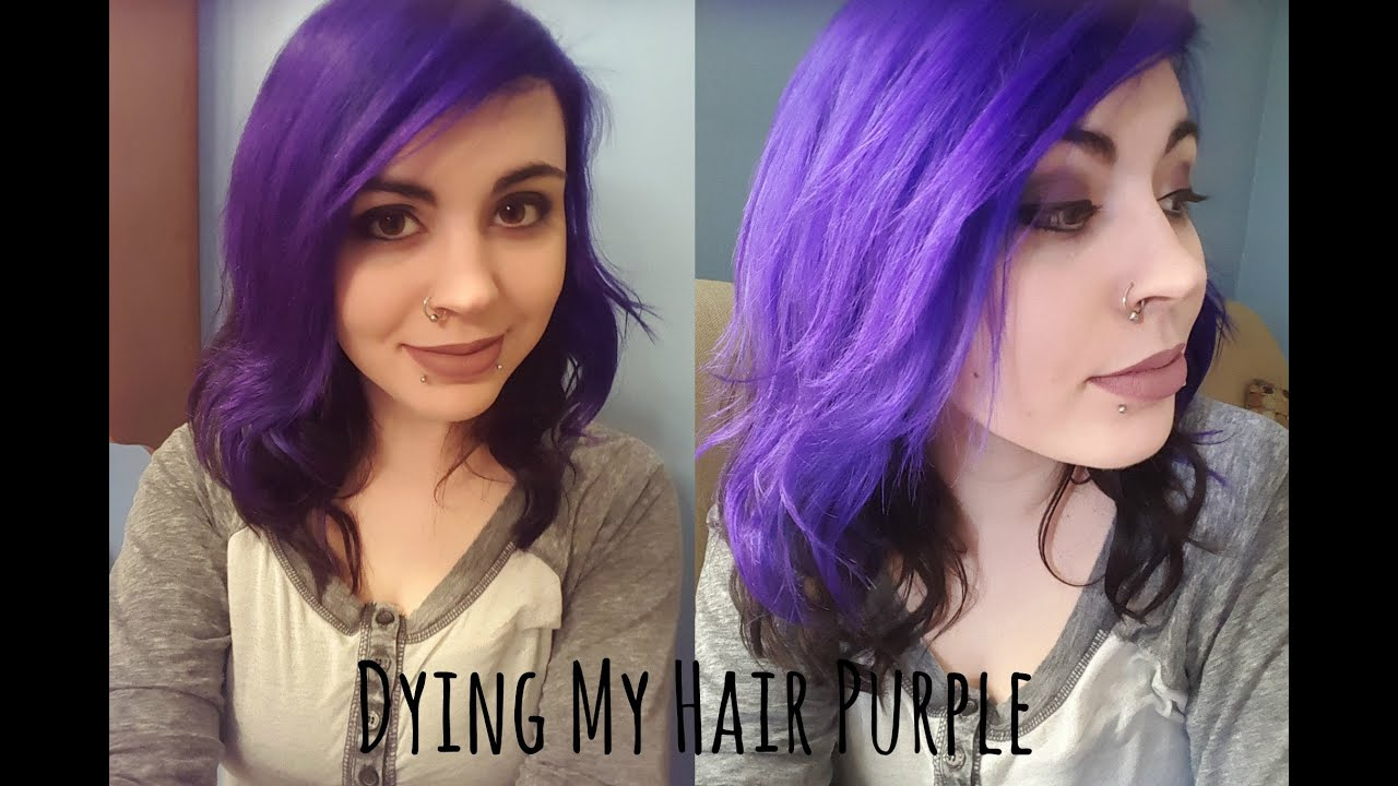 dying my hair with jerome russell punky colour violet - Punky Color