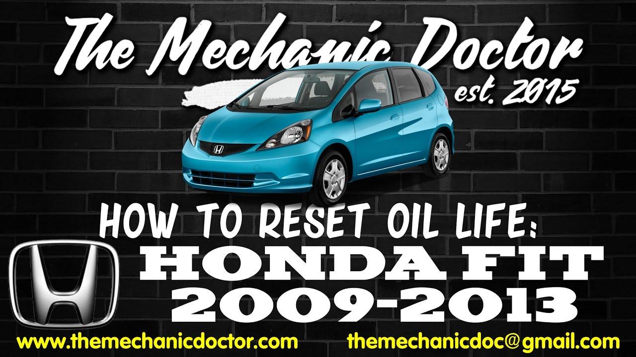 How To Reset Oil Light Honda Fit 2009 2010 2011 2012 2013 Youtube