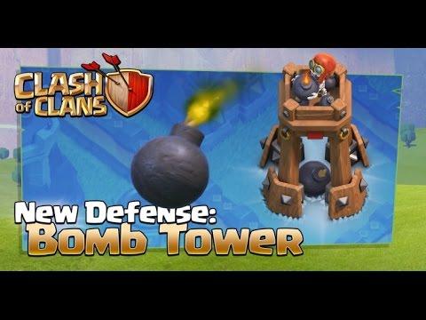 Clash of Clans Update tháng 10/2016 - Trụ phòng thủ mới BOMB TOWER