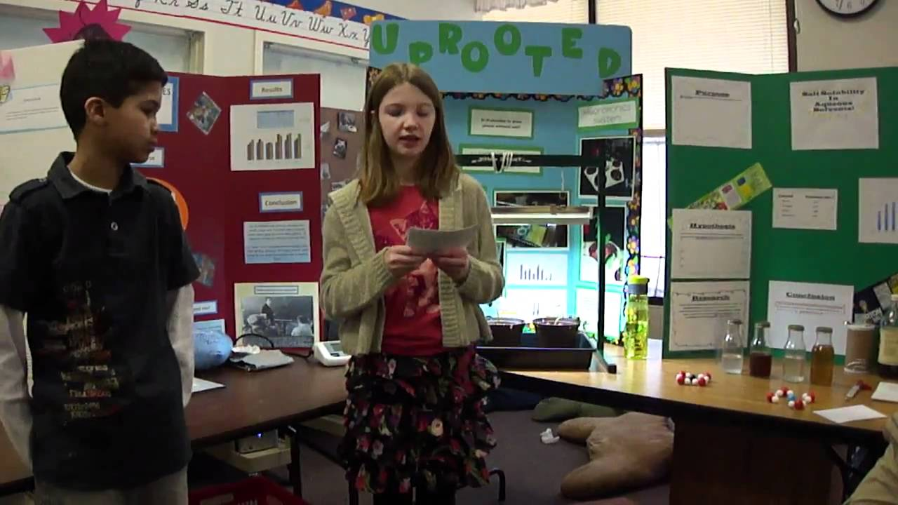 sample middle school science fair research paper