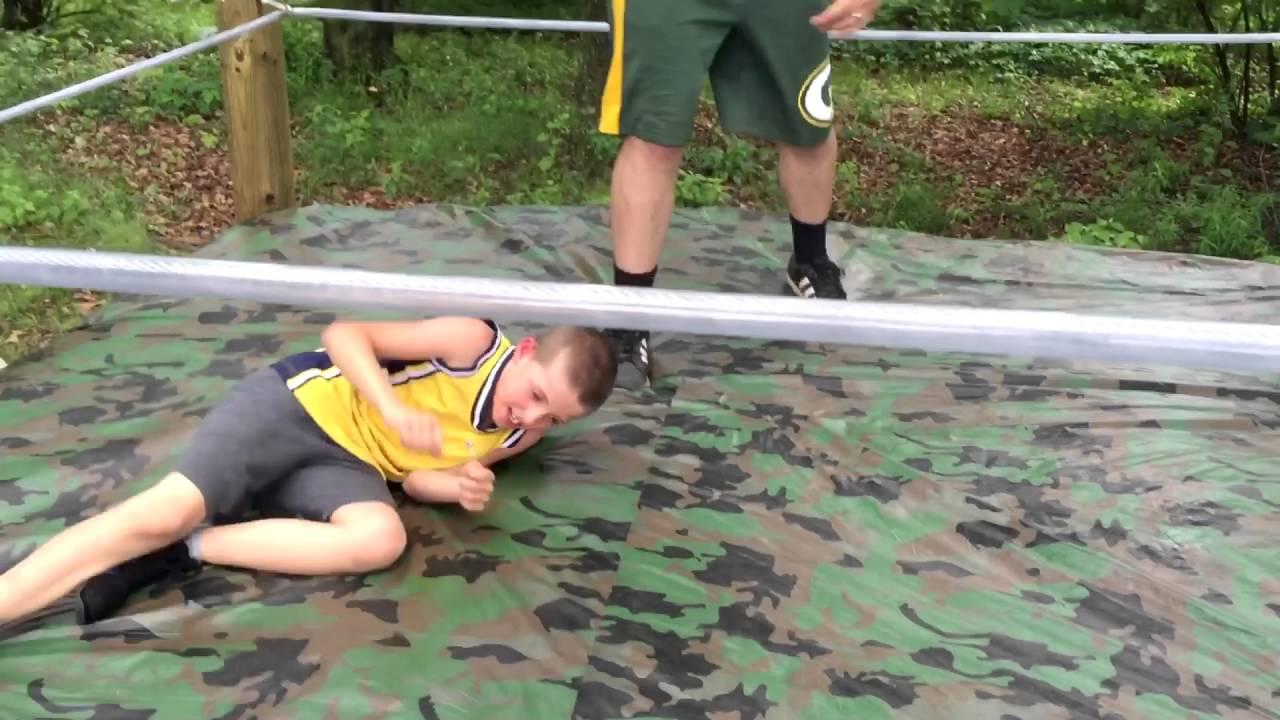 paravlog 1 backyard wrestling ring bvp and more youtube