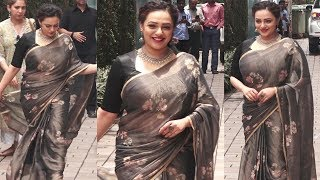 Nithya Menon CUTE Chubby Looks In Saree At Mission Mangal Trailer Launch